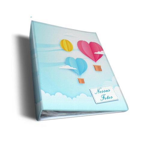 Imagem de Álbum de Fotos Azul Balões de Coração Para 500 Fotos 10x15