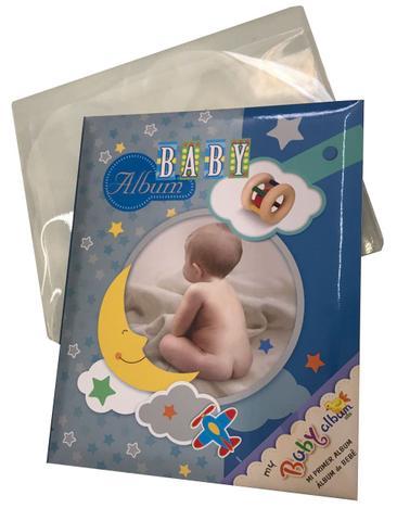 Imagem de Album De Fotos Bebe Feminino Yes 48 Fotos 15x21 - Azul