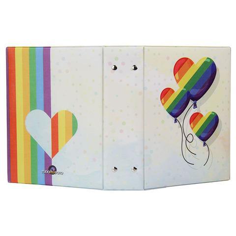 Imagem de Álbum de Fotos Love Arco íris para 500 fotos 10x15 Com Adesivos - 10019 167906