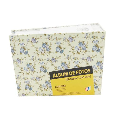 Imagem de Álbum de Fotos Yes 100 Fotos 10x15cm Floral Azul
