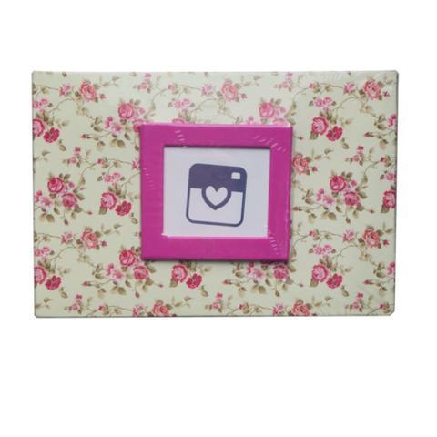 Imagem de Álbum de Fotos Yes 100 Fotos 10x15cm Floral Rosa