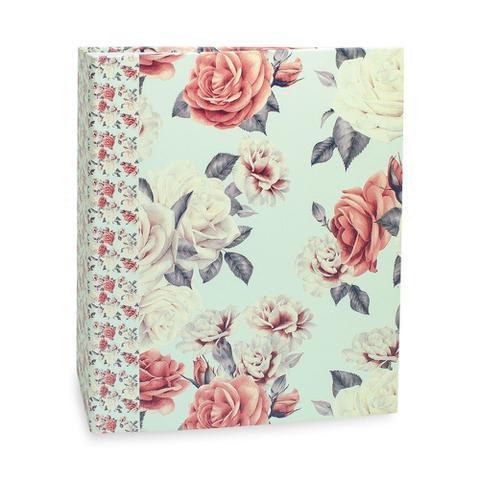 Imagem de Álbum Floral Ferragem Rosas com Fundo Azul 200 Fotos 10X15