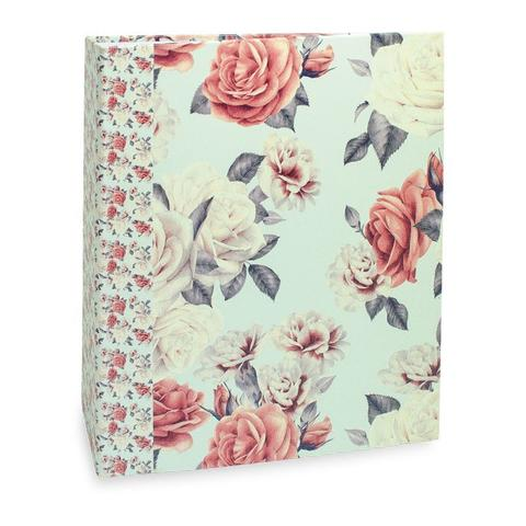 Imagem de Album Floral Ical 200 Fotos 10x15 Flor Azul/rosa