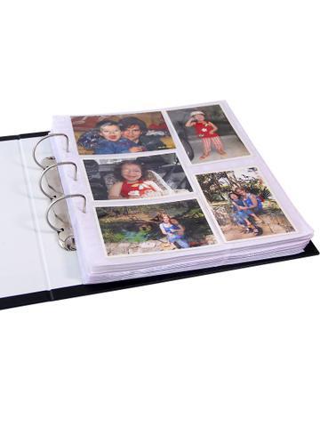 Imagem de Álbum Gigante 1000 Fotos 10x15 Revestido Corino Preto Ferragem