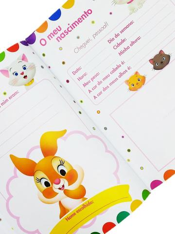 Imagem de Álbum Livro Recordações Meu Bebê Menina Disney Bicho Esperto