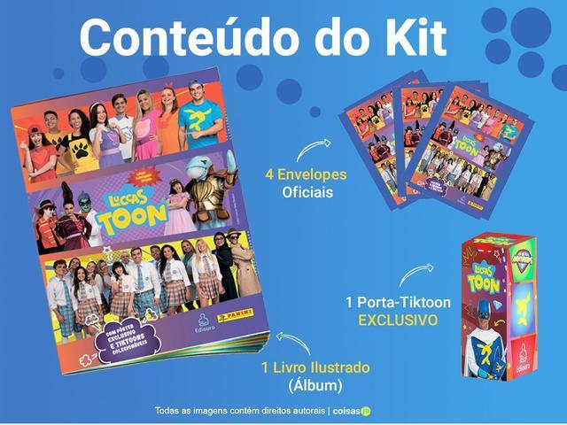 Imagem de Álbum Luccas Neto 2 + 16 Figurinhas P/ Colar + Porta Tiktoon