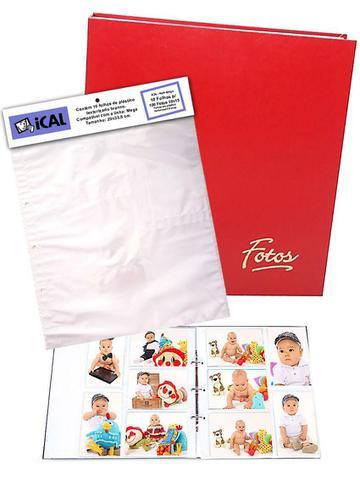 Imagem de Álbum Mega 500 Fotos 10x15 Vermelho + Refil 100 Fotos Extra