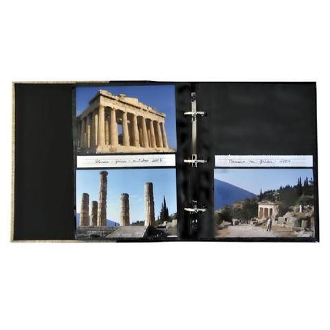Imagem de Álbum Prestige Folha Preta 200 Fotos 10x15 Ical Marrom
