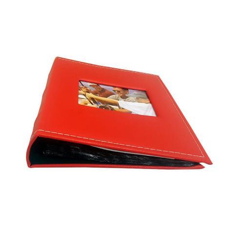 Imagem de Álbum Prestige Folhas Preta Janela 200 Fotos 10x15 Vermelho