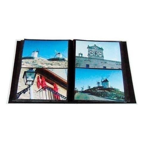 Imagem de Álbuns de fotos folhas preta 160 fotos 10x15 3 unidades