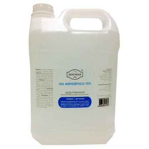 Imagem de Álcool em Gel Galão 5 litros Antisséptico 70 Edumax