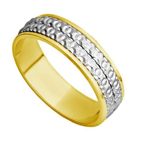 Imagem de Aliança Casamento Ouro 18k Bodas de Ouro Feminina abp29