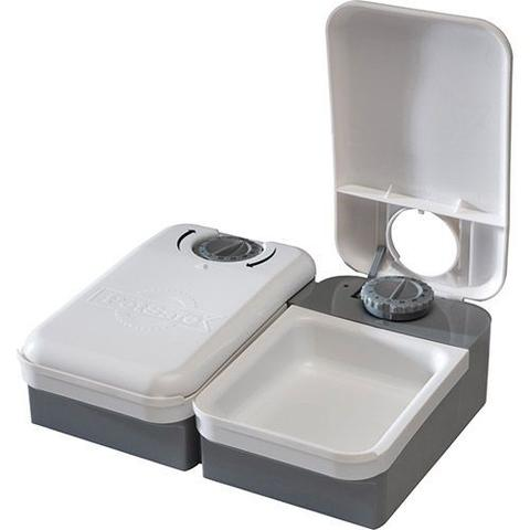 Imagem de Alimentador Automático Eatwell para Cães e Gatos, programação de 2 Refeições - Branco Cinza - Amicus