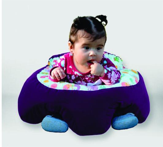 Imagem de Almofada Apoio Segura Bebê Sentar Puff Berço Portatil Sereia