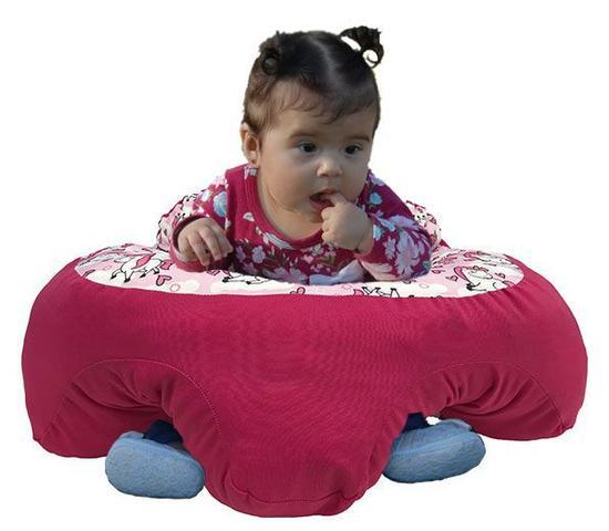 Imagem de Almofada Apoio Segura Bebê Sentar Puff Berço Portatil Unicornio 2