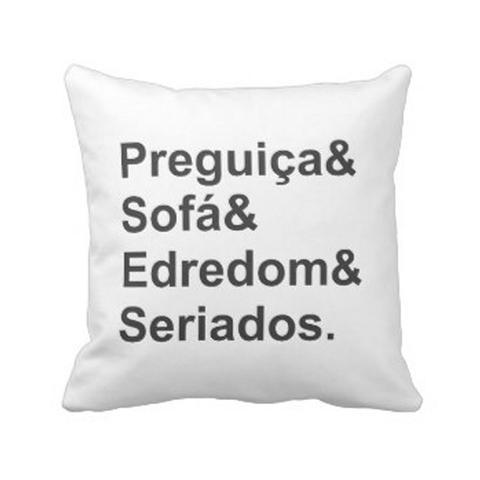Imagem de Almofada Decorativa Personalizada Cheia Sofá Seriados Branco