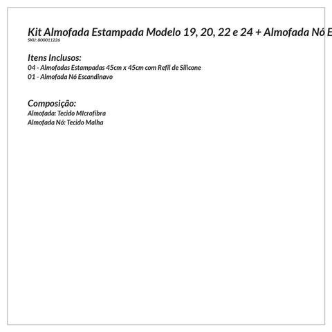 Imagem de Almofada Decorativa Rosê 4 Unidades 45cm x 45cm com Refil de Silicone + Almofada Nó Escandinavo