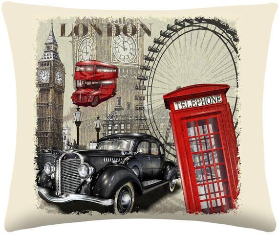 Imagem de Almofada Digitais London com 2 peças