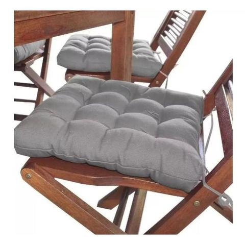 Imagem de Almofada futon assento para cadeira - cinza