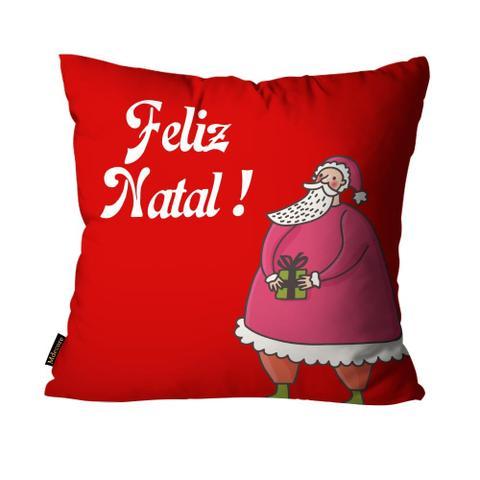Imagem de Almofada Mdecore Natal Feliz Natal Vermelha