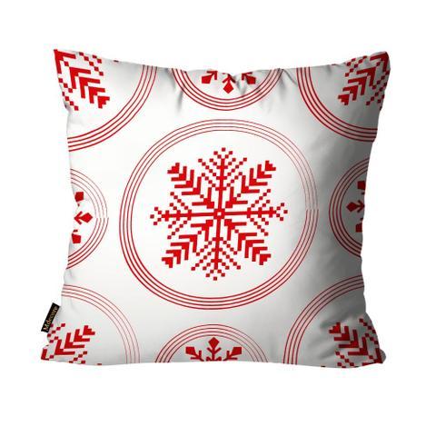 Imagem de Almofada Mdecore Natal Flocos de Neve Branca