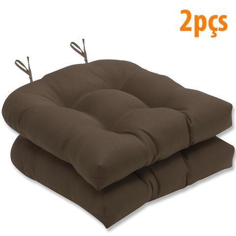 Imagem de Almofada Para Assento Futton Solid 40x40cm Marrom 2Pçs