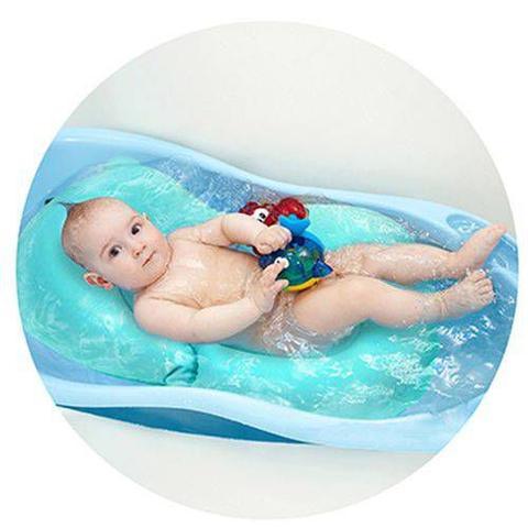 Imagem de Almofada Para Banho Banheira Baby Buba Azul