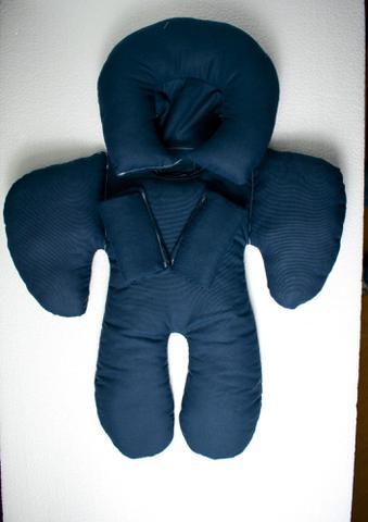 Imagem de Almofada Para Bebe Conforto Suporte Carrinho Redutor Encosto Azul Marinho