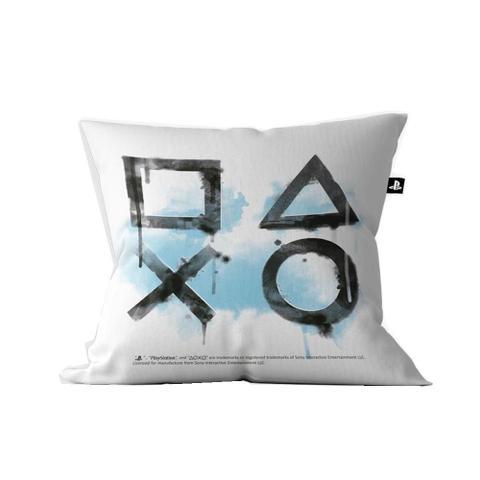 Imagem de Almofada Playstation Symbols 40 X 40 Cor Branca Licenciado Sony