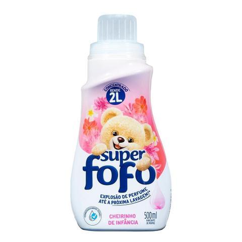 Imagem de Amaciante Super Fofo Concentrado Cheirinho Da Infancia 500ml - Embalagem c/ 12 Unidades