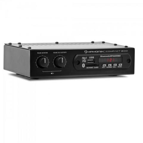 Imagem de Amplificador 20W com Bluetooth COMPACT 200 Preto HAYONIK