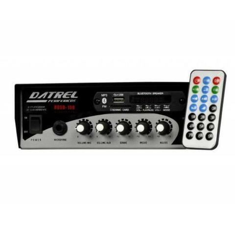 Imagem de Amplificador de Som Ambiente com Bluetooth USB 100 watts HDS-100BLUE - Datrel