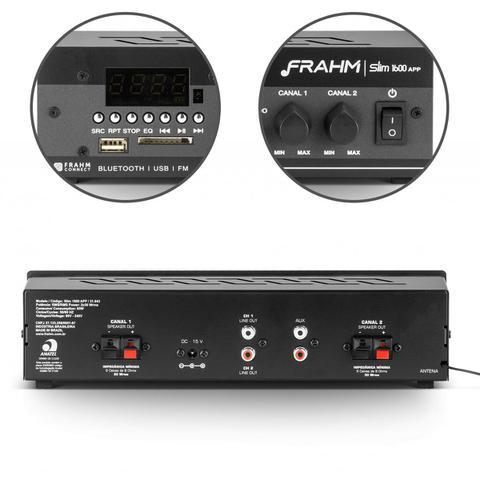 Imagem de Amplificador de Som Ambiente Frahm Receiver Slim 1600 APP