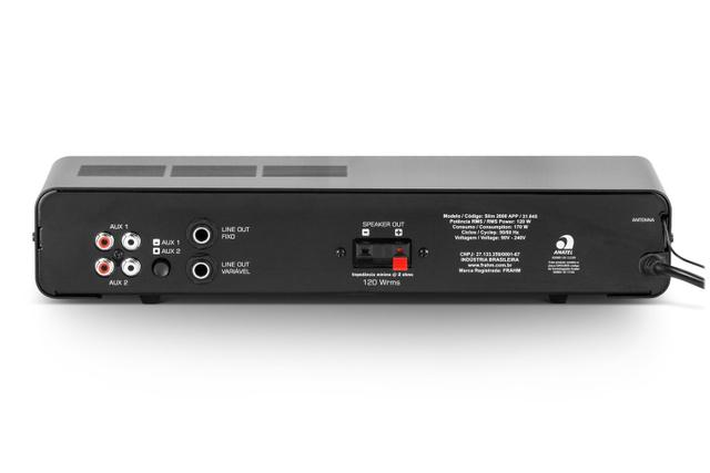 Imagem de Amplificador Receiver Frahm Slim 2000 App G2 Bluetooth