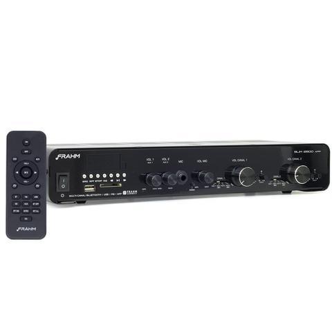 Imagem de Amplificador Receiver Frahm Slim 2500App Bluetooth Usb Fm