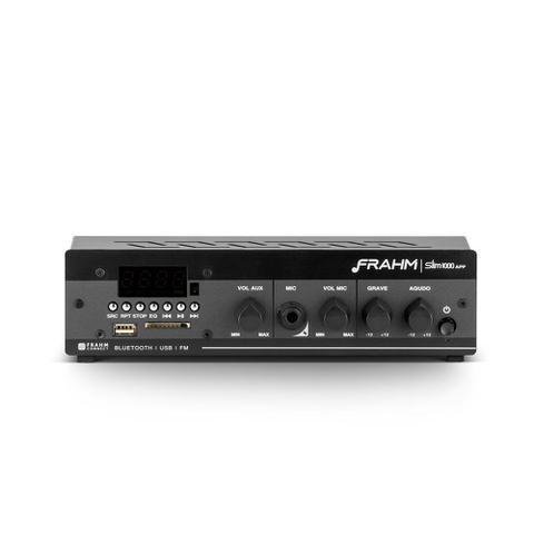 Imagem de Amplificador - Receiver para Som Ambiente Frahm SLIM 1000 APP  Bluetooth  40W