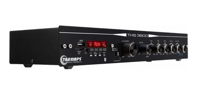 Imagem de Amplificador Receiver Som Ambiente Taramps Ths 3600 Mic Usb Bluetooth Aux