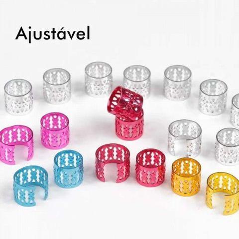 Imagem de ANÉIS para Box Braid Regulável - Colorido (14 Unidades)