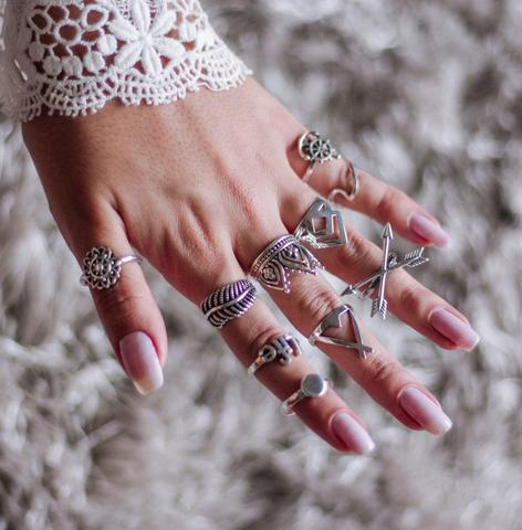 Imagem de Anel de Prata Flor Mandala