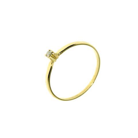 deb7982b68cab Imagem de Anel Solitário Alto em Ouro 18K com 1 Diamante de 3 Pontos -  Napoleon