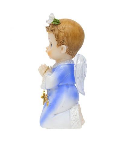 Imagem de Anjinho Azul Oração 15cm - Enfeite Resina