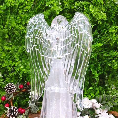 Imagem de Anjo de Natal com Luz Decorativo Acrílico 28cm