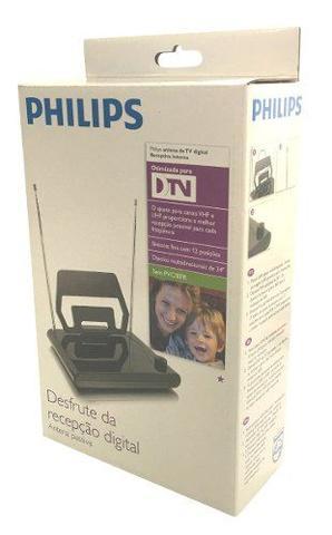 Imagem de Antena Digital Interna Philips Sdv1125 Tv - Hdtv Uhf Vhf Fm