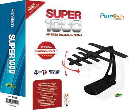 Imagem de Antena Digital UHF - Interna Super 1000 com Cabo de 1,5m - Prime Tech-PHD-1000