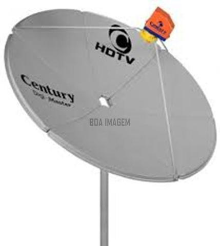 Imagem de Antena Parabólica Digital-Canais em HD - com Receptor Satélite Midiabox b4 - Century, Kit Cabo + conectores