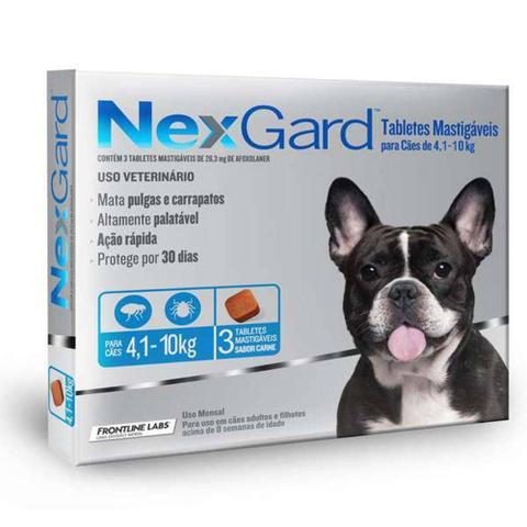 Imagem de Antipulgas E Carrapatos Nexgard 28,3mg Para Cães De 4,1 A 10kg 3 Tabletes - Merial
