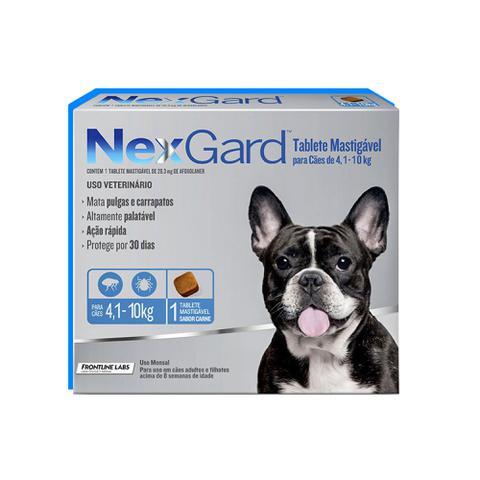 Imagem de Antipulgas e Carrapatos para cães de 4,1 a 10kg