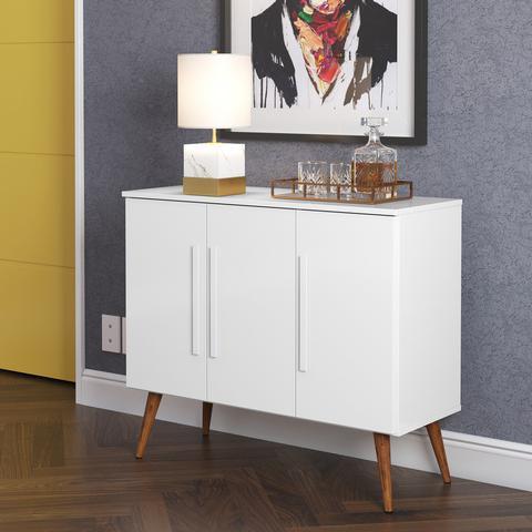 Imagem de Aparador Buffet 3 Portas Branco Brilho - 100% MDF