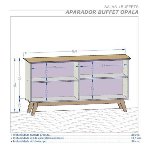 Imagem de Aparador Buffet Sala de Estar Opala 4 Portas