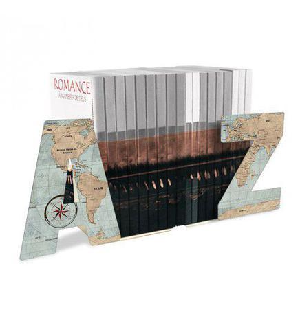 Imagem de Aparador de Livros AZ Mapa Mundi